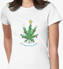 Alternative Holiday Tree Tee Womens Fitted T-Shirt