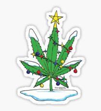 Alternative Holiday Tree Tee Sticker