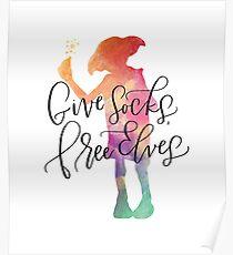 Dobby Give Socks Free Elves Poster