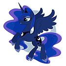 Princess Luna Vignette by EchoesLight
