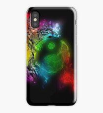 Zen Doodle Yin Yang Rainbow Black iPhone Case/Skin