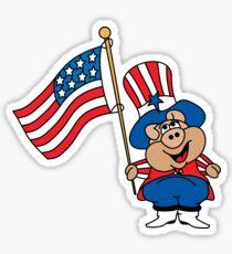 Patriot American Pig Sticker