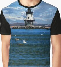 Orient Point Lighthouse; Long Island; New York State Graphic T-Shirt