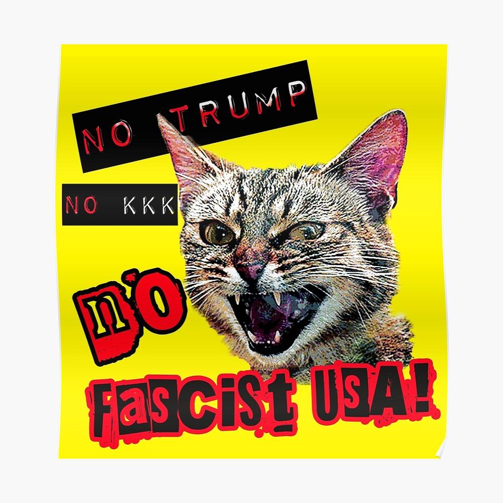 Keine faschistische USA Katze Poster