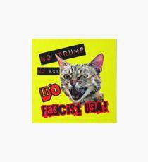 No Fascist USA Cat Art Board