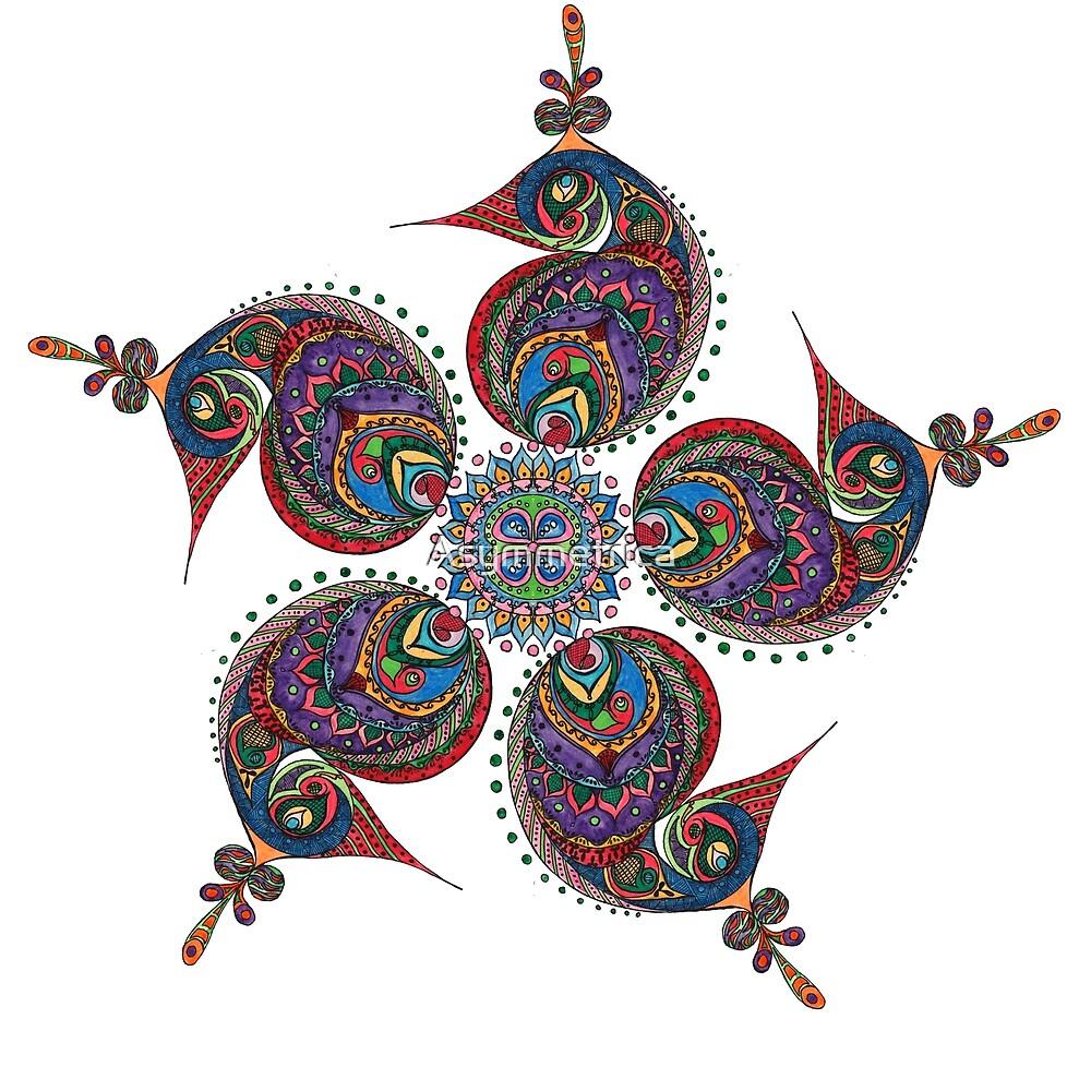 Paisley Flower by Asymmetrica