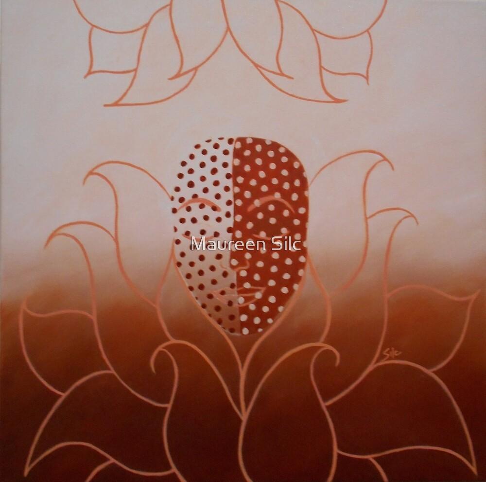 'Birth of Love' original oil on canvas 50cms x 50cms by Maureen Silc