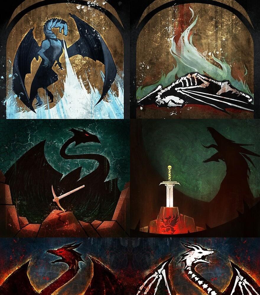 Dragon Age keep dragon tiles by Djaq
