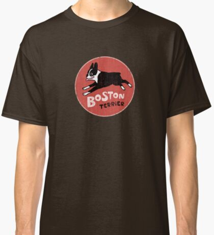 Boston Terrier Retro Style Classic T-Shirt