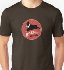 Boston Terrier Retro Style Unisex T-Shirt