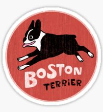 Boston Terrier Retro Style Sticker