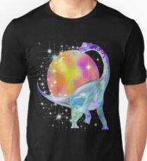 colorful rainbow Long neck dinosaur Brachiosaurus art Unisex T-Shirt