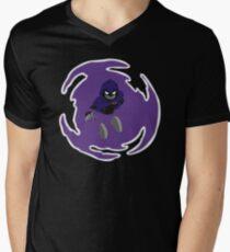 Teen Titans - Raven breaks through Men's V-Neck T-Shirt