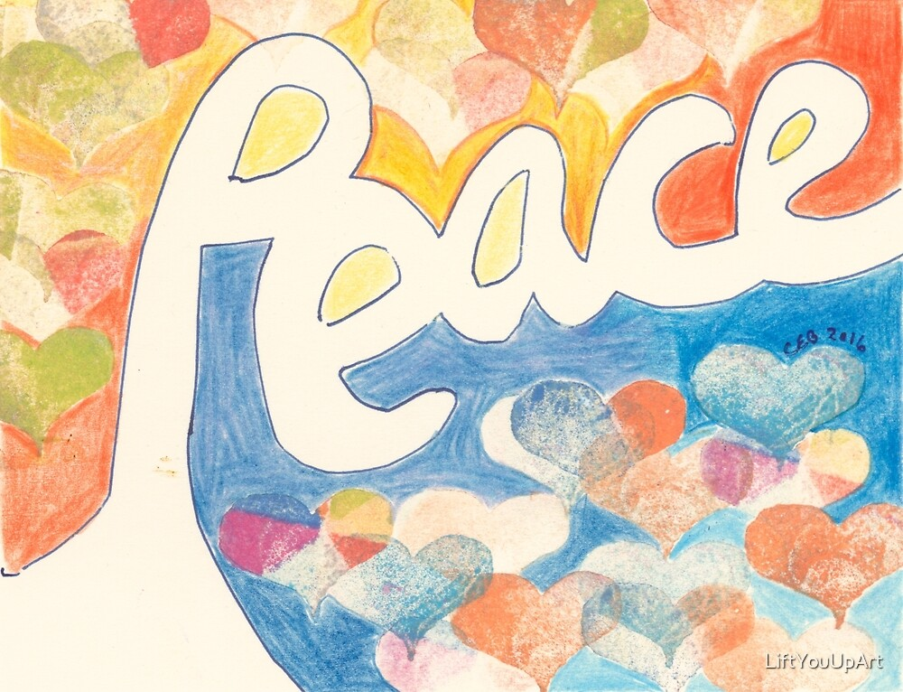 Peace - 3 by LiftYouUpArt