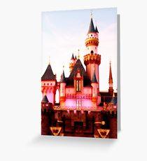 Pink Castle Illustration Greeting Card