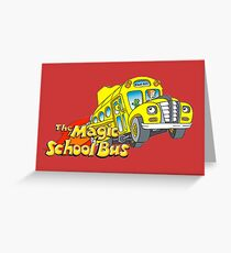 the magic school bus Greeting Card