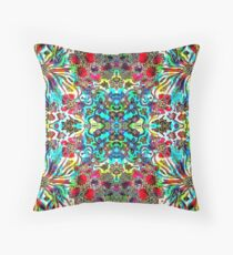 Floral Fantasy Collection - Flower Frenzy Throw Pillow