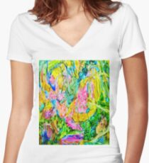 Abstract Nature Women's Fitted V-Neck T-Shirt