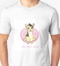 Sweetie lama, baby llamas, newborn sitting. Greeting card or kids print. Unisex T-Shirt