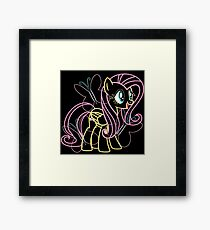 Fluttershy and Cutie Mark Framed Print