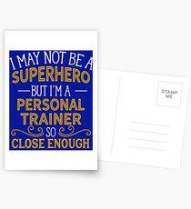 Superhero But Personal Trainer Postcards