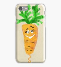 Cheerful and happy vegetable root carrots.  iPhone Case/Skin