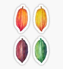 Watercolor cocoa fruits Sticker