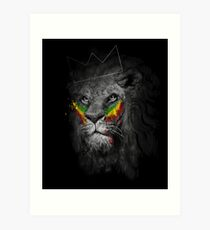 Lion of Judah Rasta Reggae Music Design Art Print
