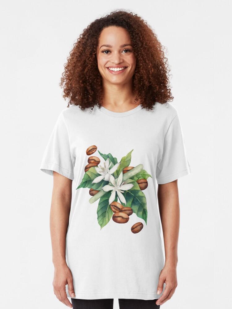 Alternative Ansicht von Aquarell Kaffee Vignette Slim Fit T-Shirt
