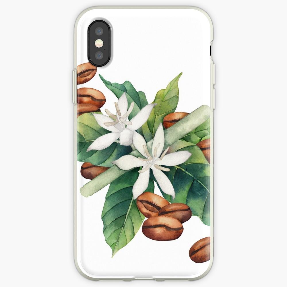 Aquarell Kaffee Vignette iPhone-Hülle & Cover