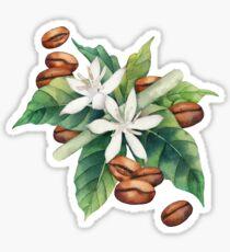 Watercolor coffee vignette Sticker