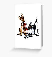 Rat Terrier Sweethearts Greeting Card