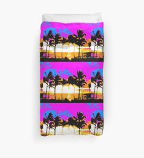 80s RETRO PALM TREES Duvet Cover