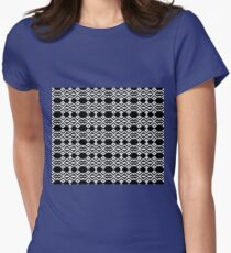 Arrows and Diamond Black and White Pattern 2 Womens Fitted T-Shirt