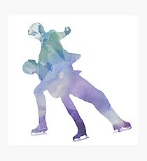 Watercolour Pair Skate  - Yuri!!! on Ice Photographic Print