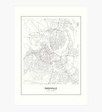 Nashville Minimalist Map Art Print