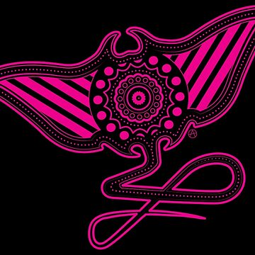 Mantaray (pink) by AlyOhDesign