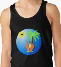 Funny feet 50's retro beach holiday! Tank Top