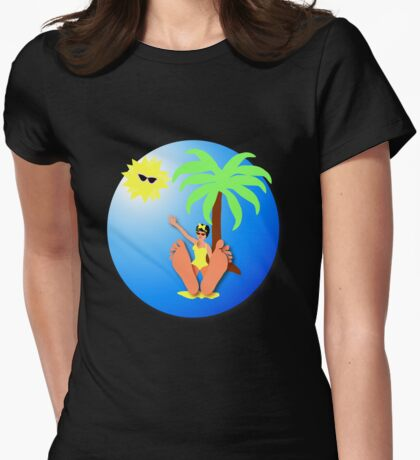 Funny feet 50's retro beach holiday! T-Shirt