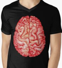 Watercolor brain Men's V-Neck T-Shirt