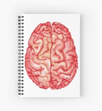 Watercolor brain Spiral Notebook