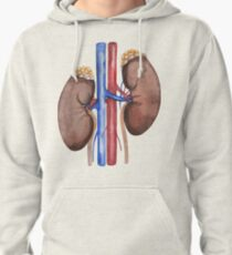 Watercolor kidney Pullover Hoodie