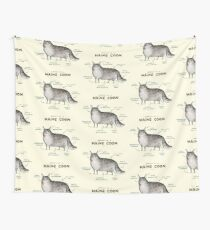 Anatomy of a Maine Coon Wall Tapestry