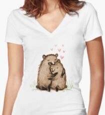 Bearlentines Women's Fitted V-Neck T-Shirt