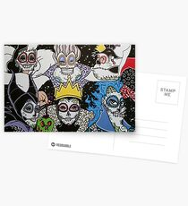Sugar Skull Villains Postcards