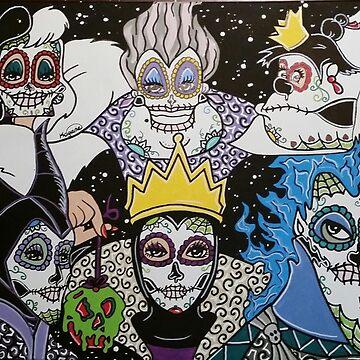 Sugar Skull Villains by KittyOG1