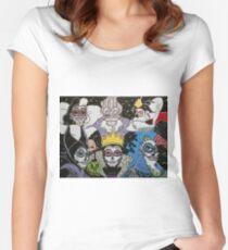Sugar Skull Villains Women's Fitted Scoop T-Shirt