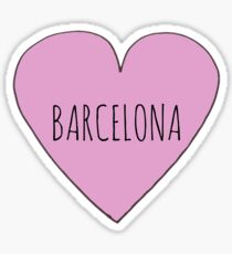 Barcelona Love Sticker
