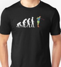 Human Evolution To Golf Player Funny Graphic T-Shirt