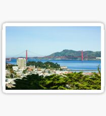 San Francisco Golden Gate Bridge Panorama Sticker